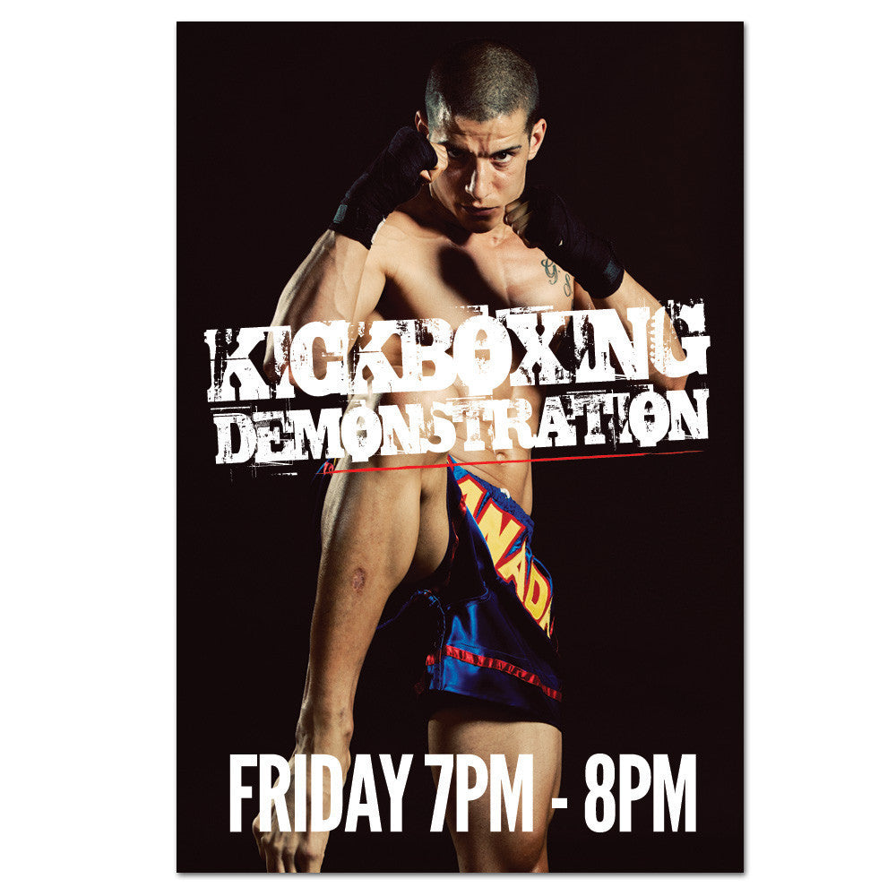 Kickboxing Demo Cling - Get Students