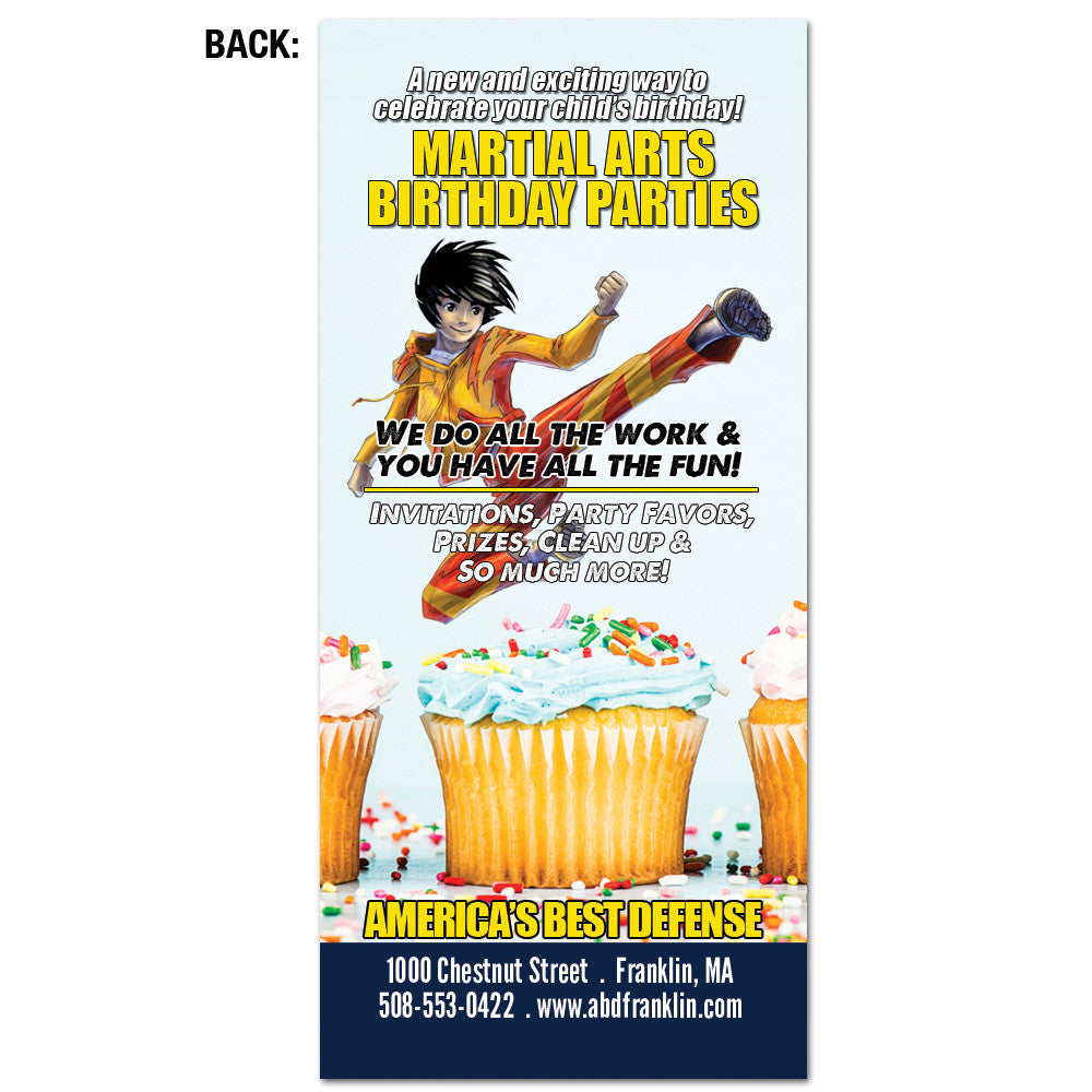Kids & Birthday Parties Rack Card