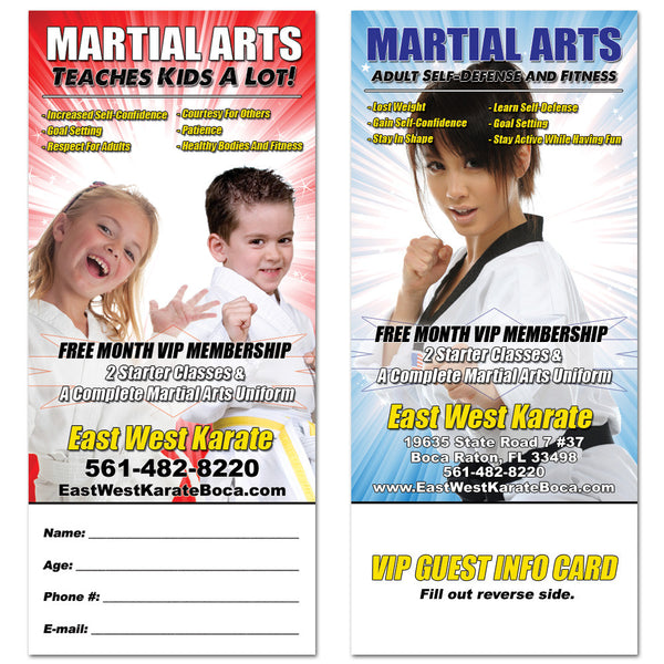 Martial Arts Tear Off Card 01 - Get Students