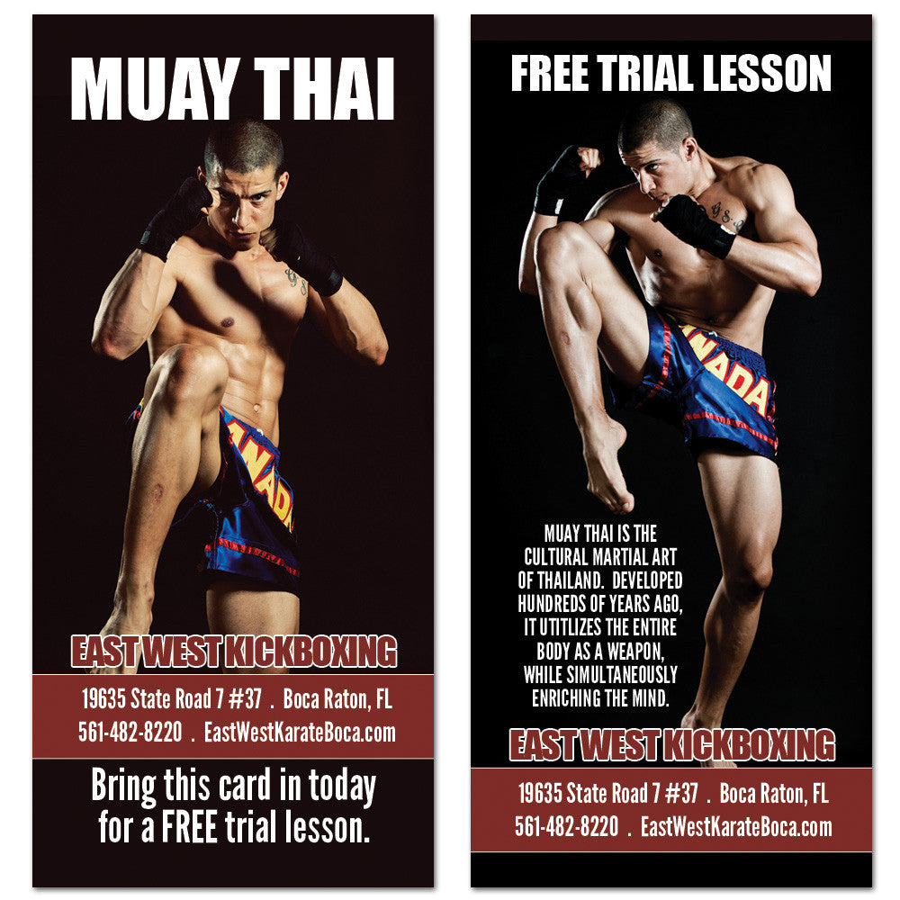 Muay Thai Rack Card 01 - Get Students