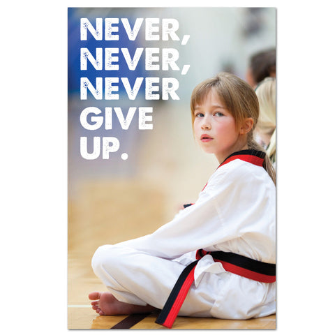 Never Give Up Banner
