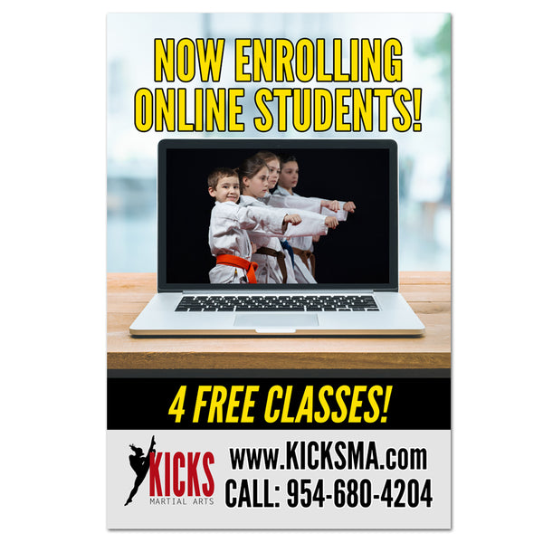 Online Students Window Cling - Get Students