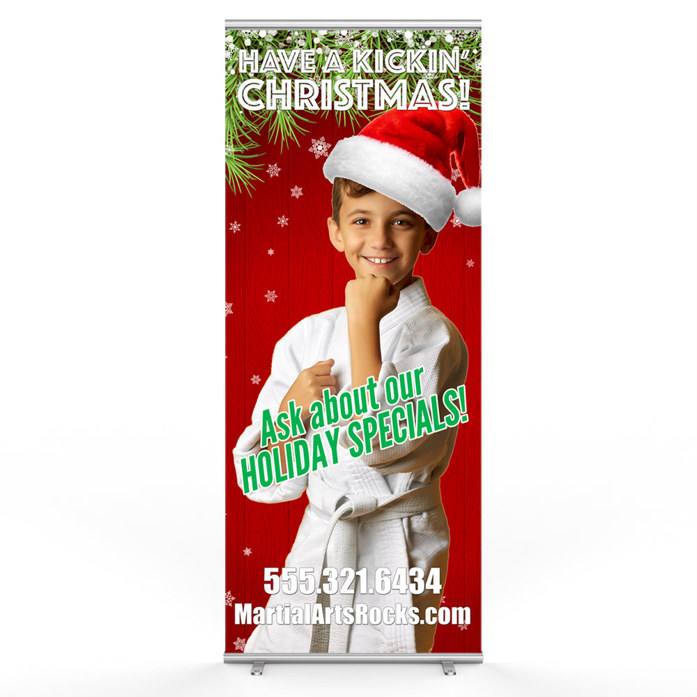 Christmas Pop Up Banner - Get Students