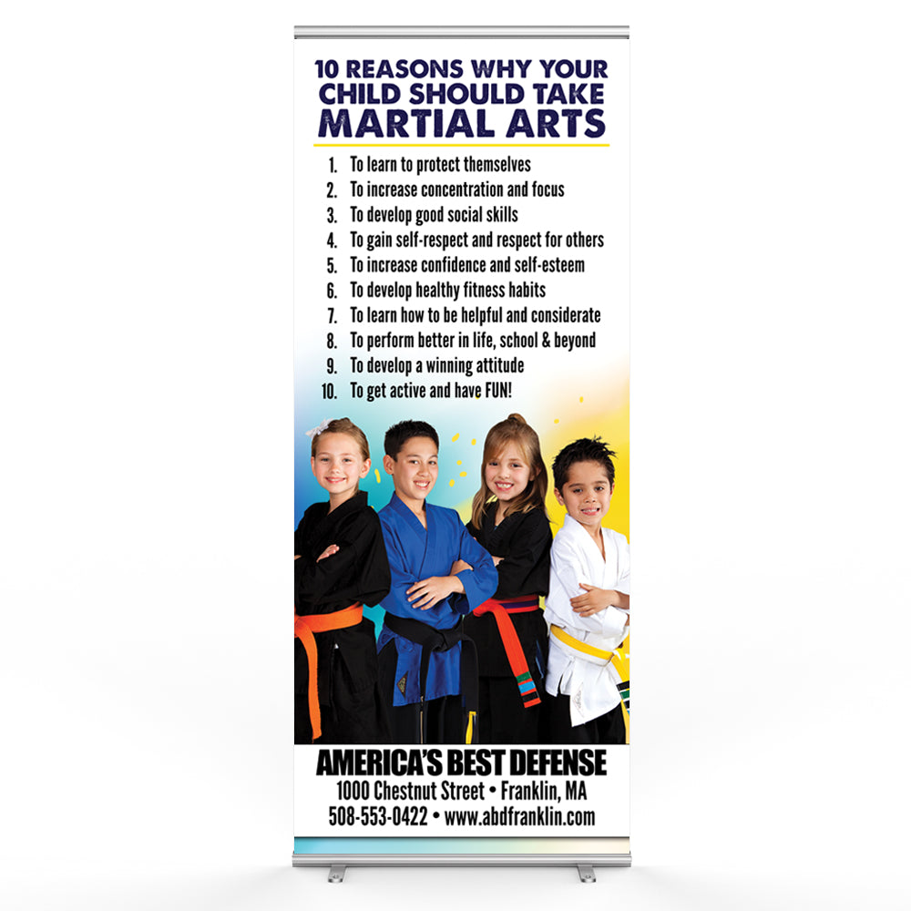 Ten Reasons Pop Up Banner - Get Students