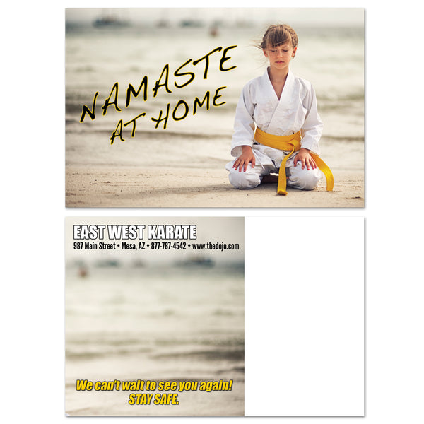 Namaste At Home Postcard - Get Students