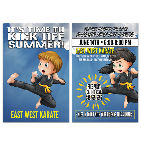 Kick Off Summer Party Invite - Get Students