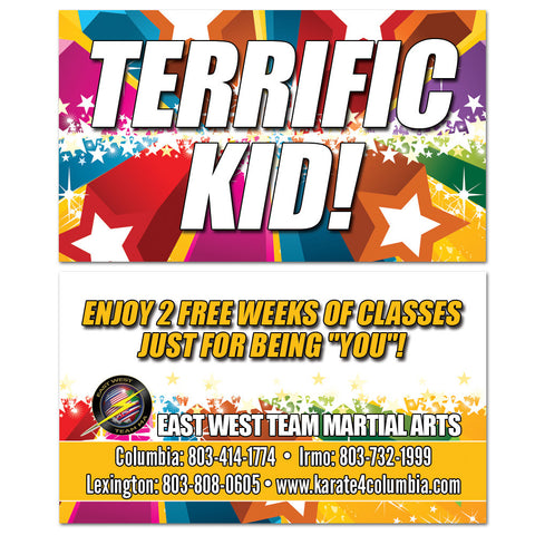 Terrific Kid VIP Card