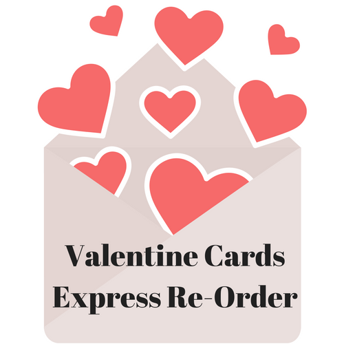 Valentine Tear Off Cards:  Express Reorder - Get Students