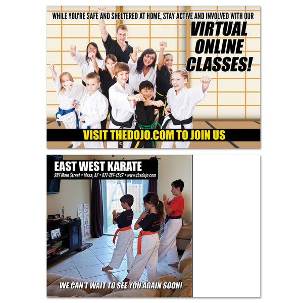 Virtual Classes Postcard - Get Students