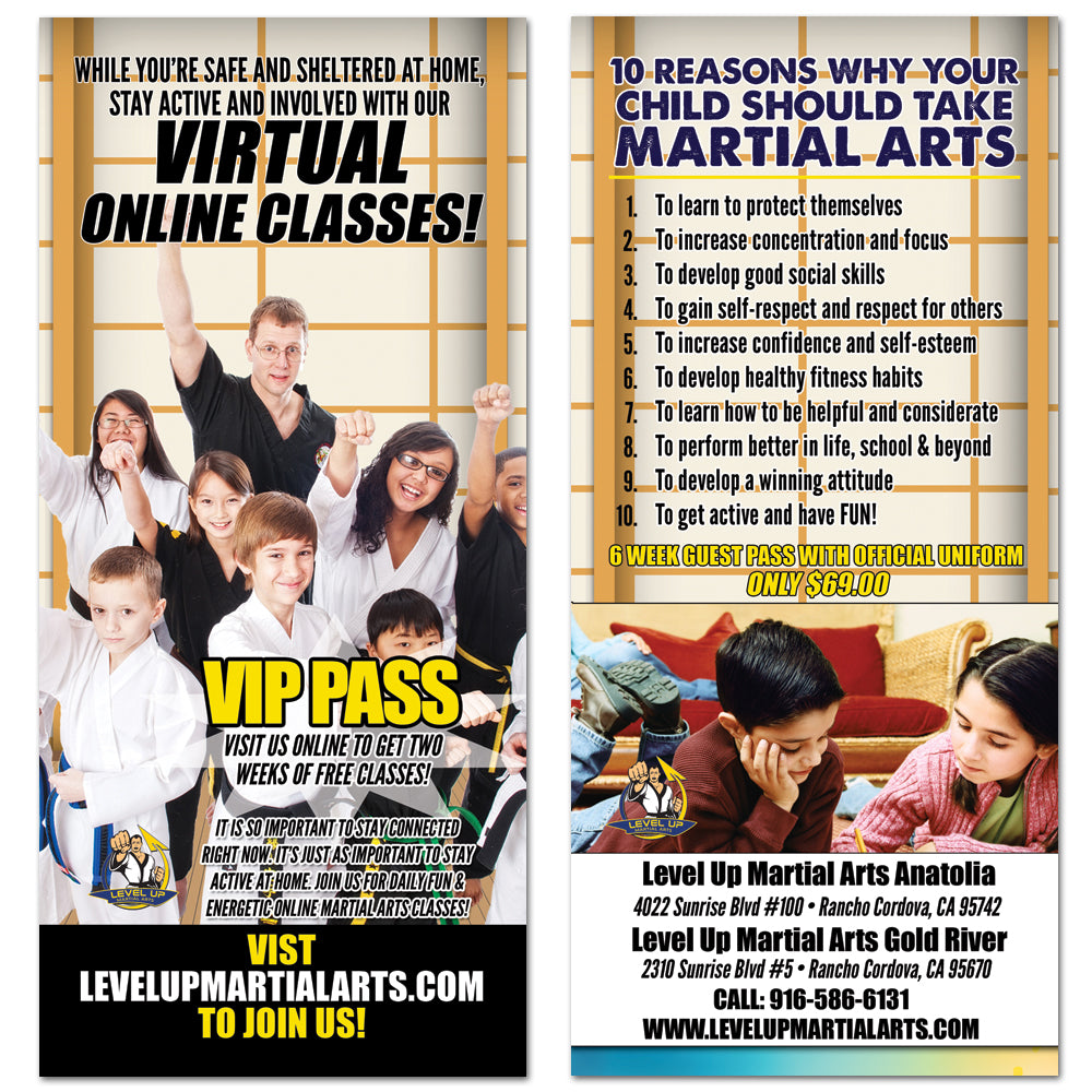 Virtual Classes Rack Card - Get Students