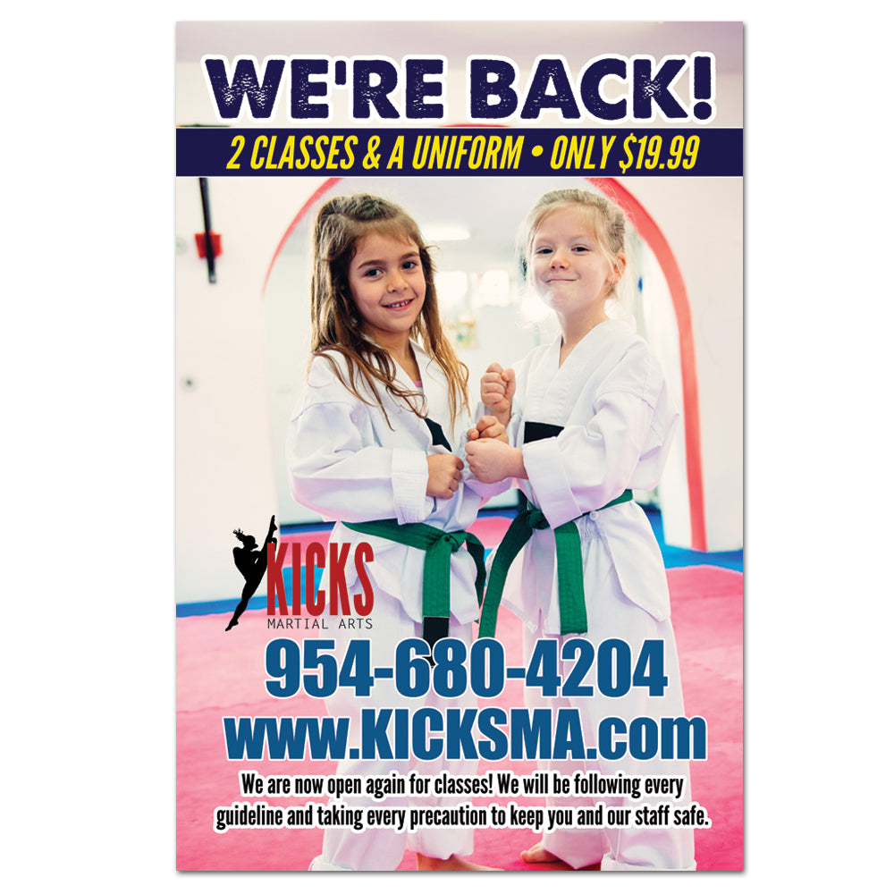 We're Back! Window Cling - Get Students