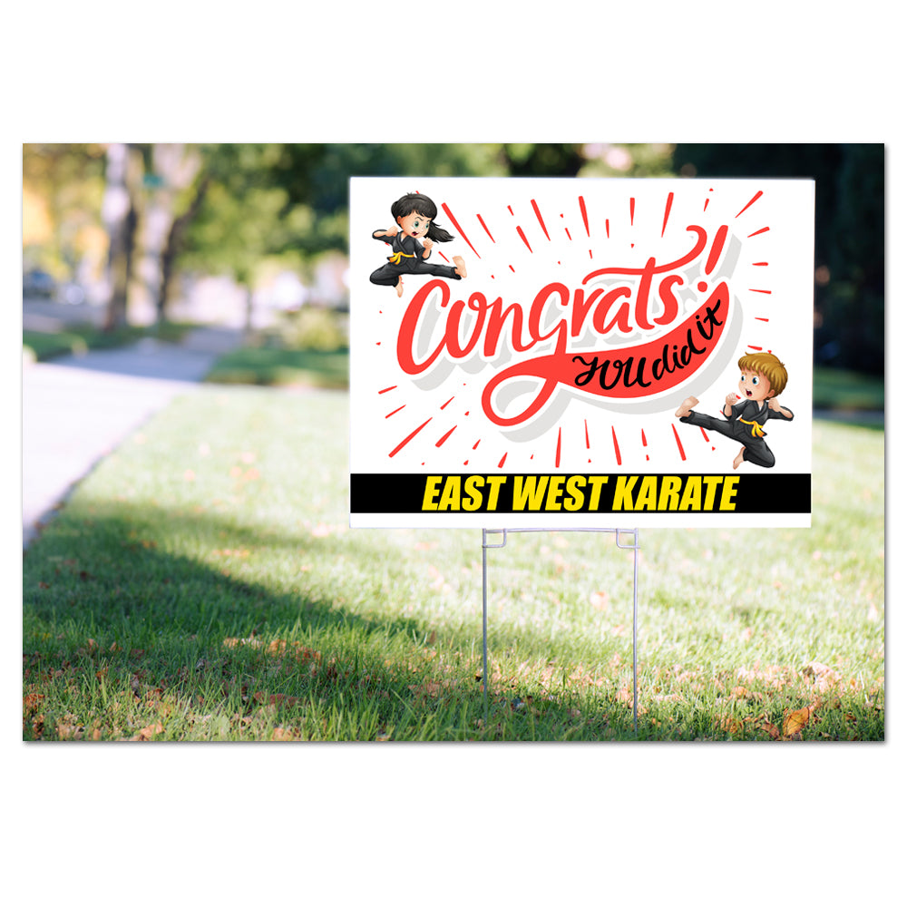 Congrats! Yard Signs - Pack of 50 or 100 - Get Students