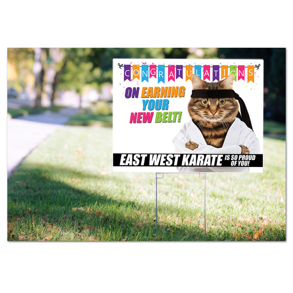 Your New Belt! Yard Signs - Pack of 50 or 100 - Get Students