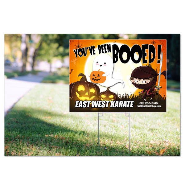 Halloween Yard Signs - Pack of 50 or 100 - Get Students