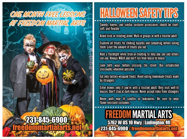 New Halloween Safety Ad Card - Get Students