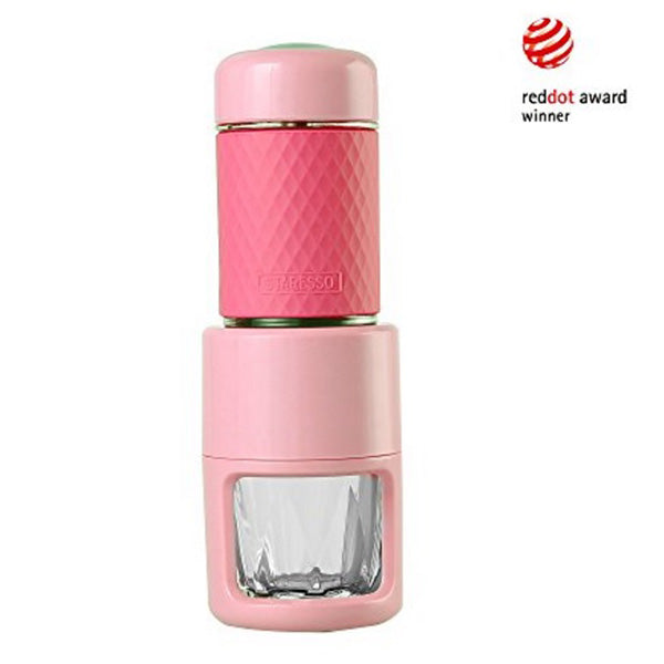 STARESSO Coffee Maker Red Dot Award Winner Portable Espresso Cappuccino Quick Cold Brew Manual Coffee Maker Machines All in One - Pink