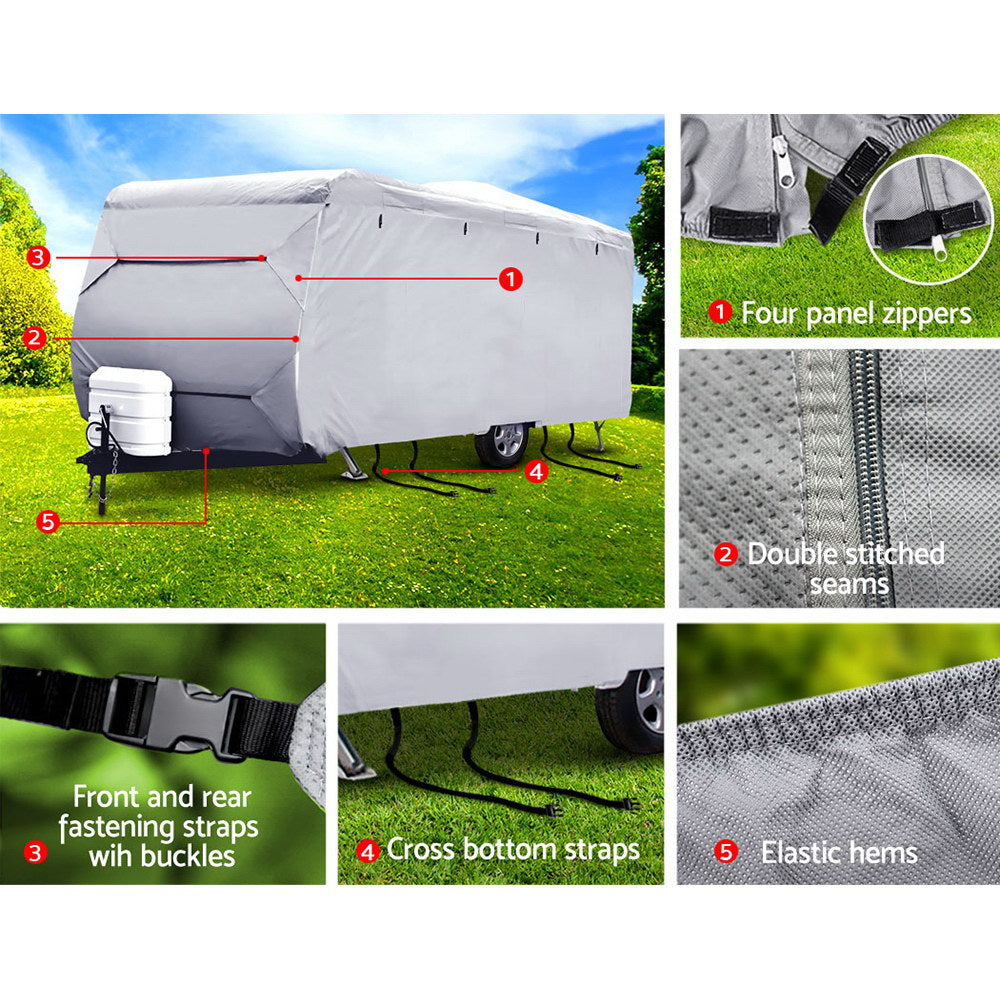 Weisshorn 20-22ft Caravan Cover Campervan 4 Layer UV Water Resistant