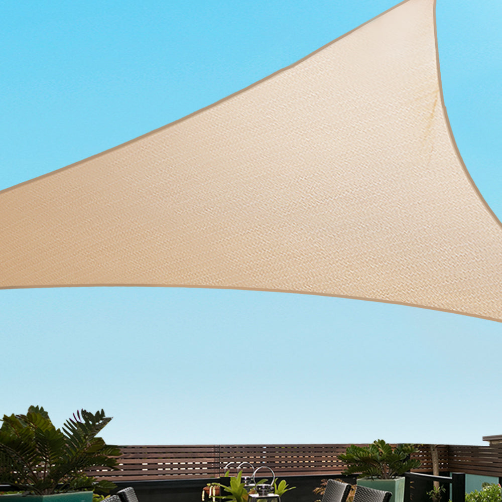 Instahut Sun Shade Sail Cloth Shadecloth Outdoor Canopy 5x5x7m 280gsm