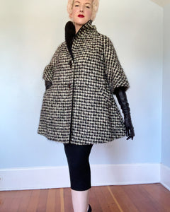 "1950s ""Lilli Ann of Paris & San Francisco"" Wool Cropped Dior-Inspired Swing Coat"