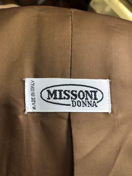 "1980s ""Missoni Donna"" Wool Cashmere Dramatic Trapeze Coat with Pockets"