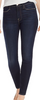 le high skinny outseam stitched slit, dark denim