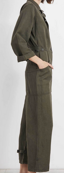 Ares jumpsuit moss green
