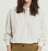 Cody oversized stripe pop over shirt