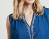 cobalt embroidered top