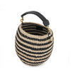 pot de miel black and natural stripe with black and white shoulder strap