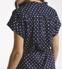 Astrid easy shirtdress in navy dot