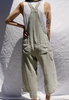 wide leg crop overall in olive