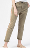 le beau duo tape chino in washed green