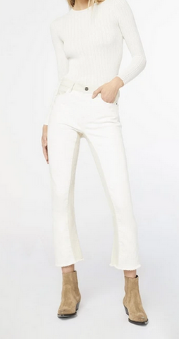 Le crop mini boot white and cream mix