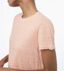 Easy linen tee in terracotta