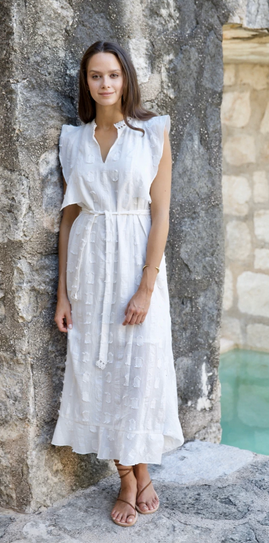 Parma dress in white