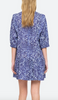 celine long sleeve tunic dress in lapis