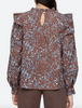 celine long sleeve blouse in sienna