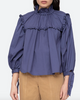 Marlene ruffle blouse in french blue