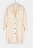 Mary moore white and peach shirtdress