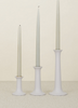 small grey simple wooden candle holder