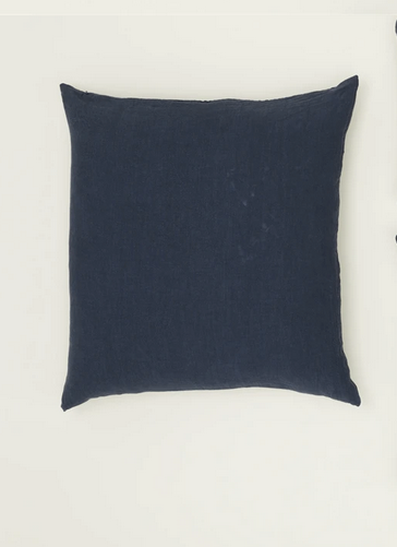 simple linen pillow in navy 18