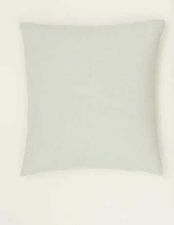 Simple linen pillow sage 22