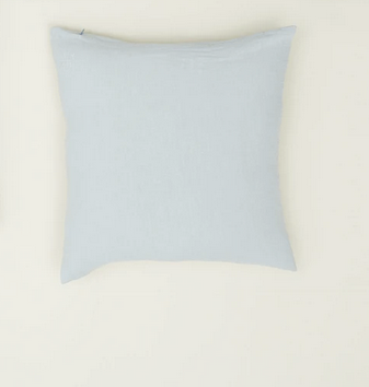 Simple linen pillow sky 18