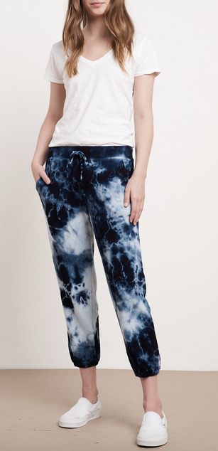 Mayla blue tie dye sweatpants