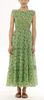 Iris dress siesta bud green