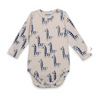 zebras all over long sleeve bodysuit