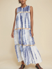 Mezcal dress navy tie dye