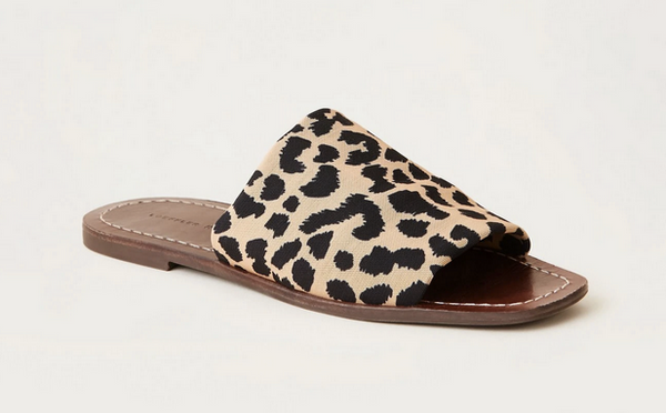 Daria stretch slide Leopard brown