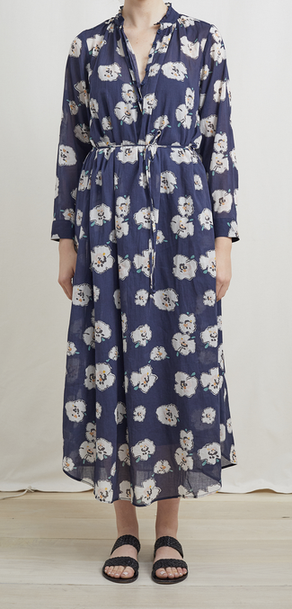 Betina maxi shirtdress rosie floral navy