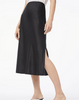 Bias midi skirt black